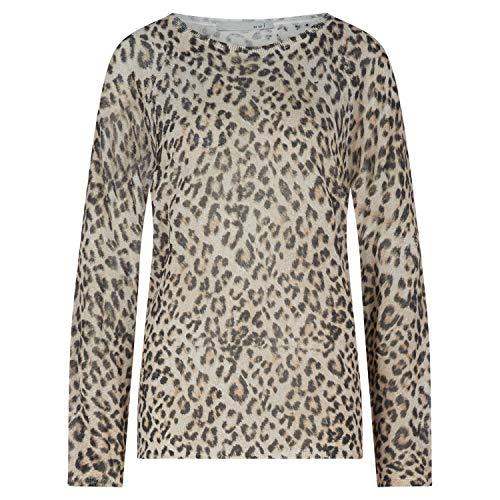 Oui Pullover mit Animal-Muster Weiss (0107 White Camel) 44