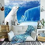pagtan Simsant Sea Animals Tapicería Oso Polar Oso Glacial Ríos...