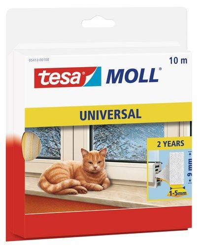 tesamoll Schaumstoffdichtung für Fenster und Türen, einfache Qualität, 10m x 9mm