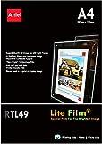 RTL49: 10 hojas de A4 - Papel de retroiluminación / Película de retroiluminación para paneles de visualización de ventanas LED en agentes inmobiliarios, para impresoras de inyección de tinta y fotocopiadoras láser, tamaño de hoja A4: 210 x 297 mm