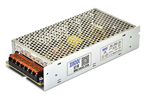 XINCOL 12V 15A 180W Transformador de Potencia, Transformador de Voltaje, Fuente de Alimentación para la Tira de LED