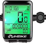 Hospaop Compteur Velo Sans Fils, IP66 étanche tachymètre de vélo, 23 fonctions, rétroéclairage LCD, vitesse compteur de vitesse pour cyclisme Realtime Speed Track