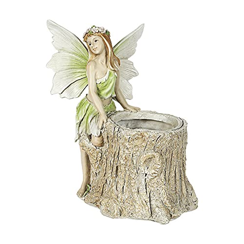 LONG-L Angel Garden Statues Planter Pot-Praying Cherubs Sculptures With Drainage Hole Decorative Pots,Containers For DIY Succulents Plants Indoor Outdoor Garden Patio,A