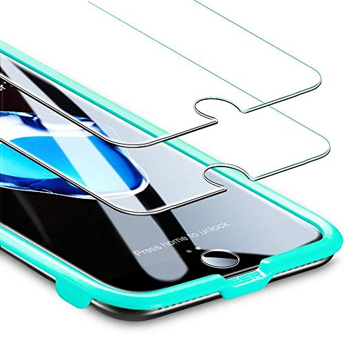 ESR 2 Unidades, Protector Pantalla Compatible con iPhone 8 Plus/7 Plus, Anti-Huella y Antiarañazos, Cristal Vidrio Templado 9H Dureza Compatible con iPhone 6s Plus/6 Plus