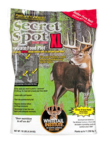 Whitetail Institute Imperial Whitetail Secret SPOT Private Food Plot Seed, 4-Pound Bag (Covers up to 4,500 Square Feet) (SECS4)