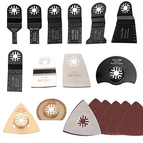 MongKok 38 stuks/set oscillating multitool Saw Web accessoires voor Fein Bosch Dremel Makita multitool