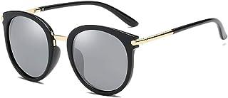 """""""N/A"""" - Gafas De Sol Polarizadas Plateadas Negras Con Montura Moda Para Mujer Gafas De Sol Al Aire Libre Salvajes Ocasionales Gafas De Protección Uv"""