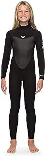 Roxy Girls Prologue 4/3MM Back Zip Wetsuit Black - Easy Stretch & Lightweight