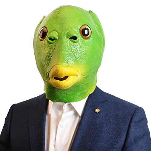 CreepyParty Fisch Maske Tier Latex Vollkopf Realistische Masken Für Halloween Karneval Kostüm Party Parade