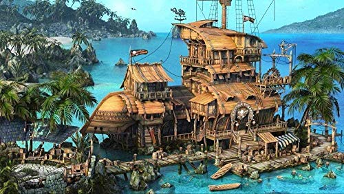 Wooden Jigsaw Puzzle 1000 Pieces,adult Puzzle Classic Jigsaw Puzzle 1000 Pieces Diy Island Ship House Ocean Palm Trees Wooden Puzzle Festival Gift Wall Decoration Mural Home Art