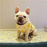 GSDJU Ropa de Bulldog francés Chaleco de Perro de Verano Pug Ropa de Perro Welsh Corgi Schnauzer Disfraces Traje de Mascota Ropa de Perro Camiseta