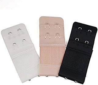 3 pz Donne Confortevole Reggiseno Extender Strap 2-Hook 2 Righe Morbido Back Bra Band Extension Strap