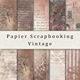 Papier Scrapbooking Vintage, 20 Feuilles: Papier Décoratif Recto-Verso pour Les Albums, Carterie, Origami et Plus. Papier Scrapbooking Rose Gold