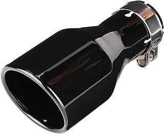 KSTE Universal Auspuff, Endstück für Auspuff, Auspuff Endrohr, Auto Änderung Universal 54mm Inlet 89mm Outlet Bevel Auspuff Endrohre hinteres Endstück Throat