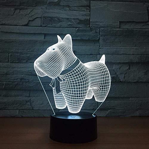 LED decoración creativa para cachorros luces 3D regalos coloridos dibujos animados USB luz de noche LED personalizada USB LED lámparas 3D