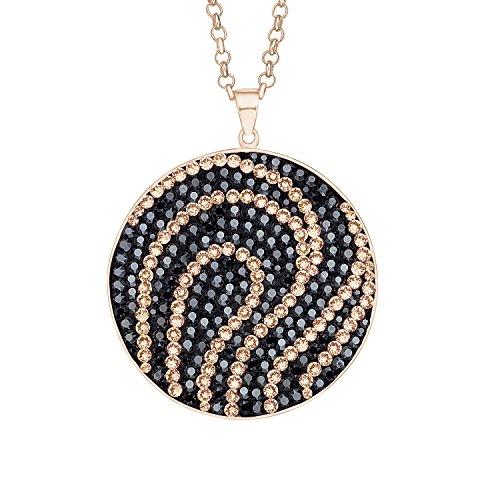 Noelani Damen-Halskette Messing teilvergoldet Kristall Mehrfarbig Rundschliff 80 cm-9347759