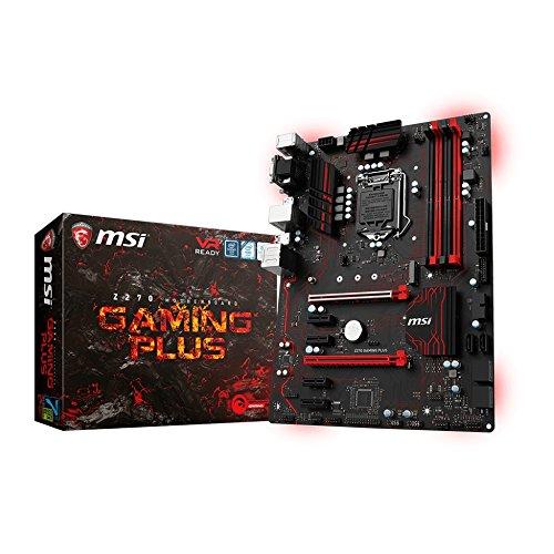 MSI Z270 Gaming Plus LGA 1151 DDR4 DP,DVI,D-Sub 1x M.2 & 8x USB 3.1 Gen1 ATX Mainboard
