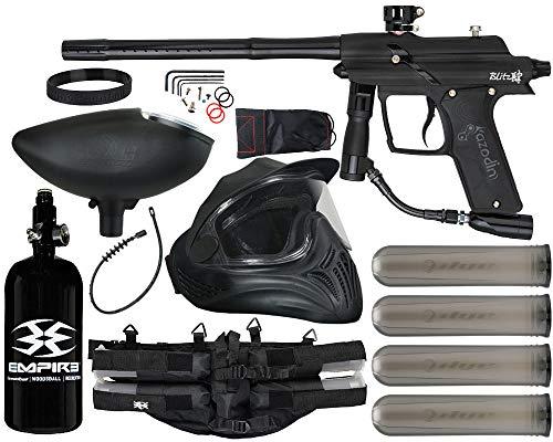 Action Village Azodin Blitz 4 Paintball Gun Legendary Package Kit (Dust Black with Polished Black Parts)