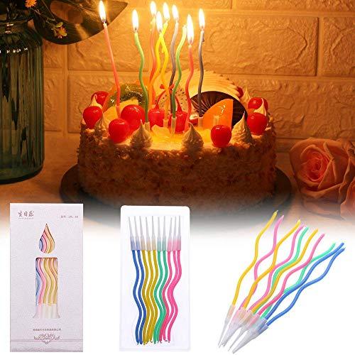 LinZX Couleur courbant Gâteau Bougie Safe Kids Party Flammes de gâteau d'anniversaire de Mariage Bougie Fournitures pour Festival Party