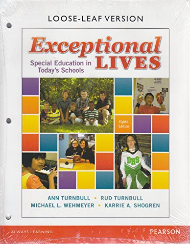 Exceptional Lives: Special Education in Today's Schools