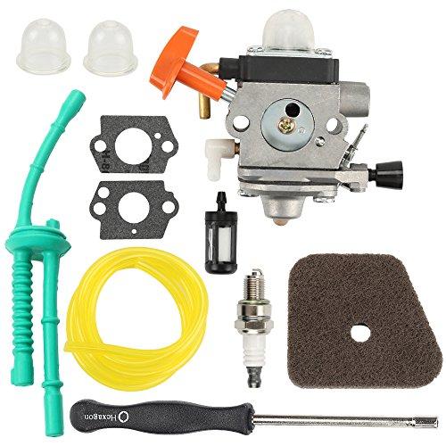 Butom FS100 C1Q-S174 Carburetor + Air Filter + Adjustment Tool + Fuel Line for FS87 FS90 FS100 FS110 FS130 HL90 HL95 HL100 HT100 HT101 KM90 KM100 KM110 SP90 Trimmer Weed Eater