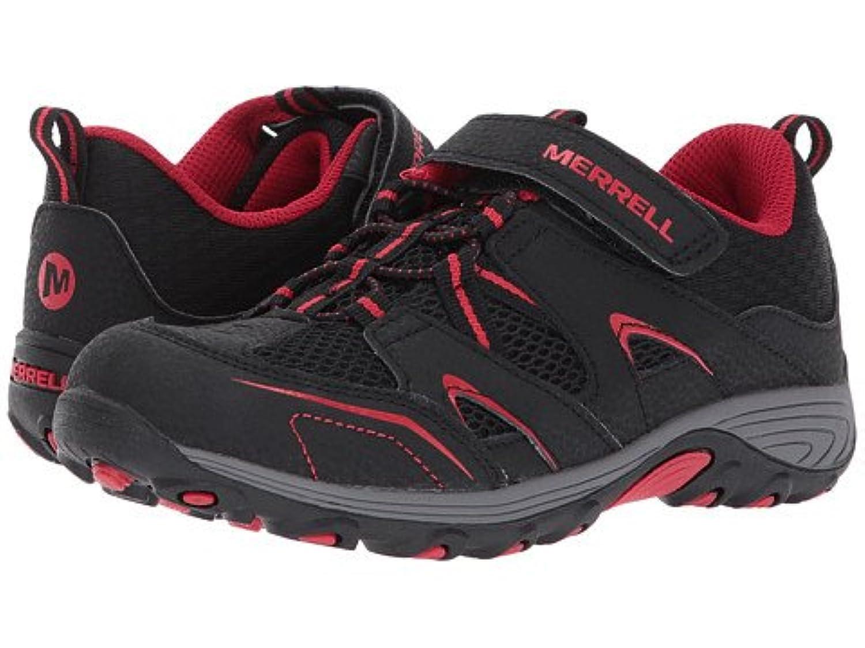 (メレル) MERRELL キッズスニーカー?カジュアルシューズ?靴 Trail Chaser (Little Kid) Black/Red 12 Little Kid 18.5cm M [並行輸入品]