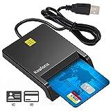KOWLONE Lector de Tarjeta Inteligente, DOD Military USB-C CAC Lector de Tarjeta de Memoria de Acceso común Chip Bank Compatible con Windows XP/Vista/10/8.1/8/7/Mac OS Plug y Play