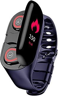 Jiadi Reloj inteligente M1 AI con auriculares Bluetooth, monitor de frecuencia cardíaca, pulsera inteligente compatible con Android iPhone