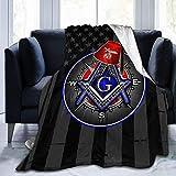 Masonic Series Shriner Fez Freemason Christmas Couch Blanket All Seasons Suitable for Women Men and Kids Gift Printed Flannel Fleece