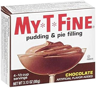 MyTFine: Pudding & Pie Filling Chocolate, 3.13 Oz (Pack of 4)