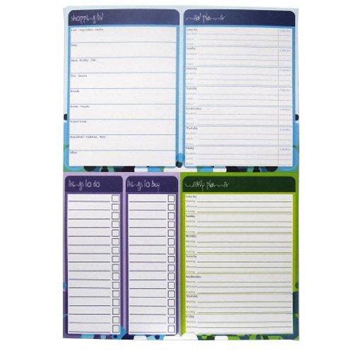 A4 Multiplaner Notizblock - Lebensmittelliste / Essen & Ernährung Planer / Wochenplaner / Dinge zu tun und zu kaufen