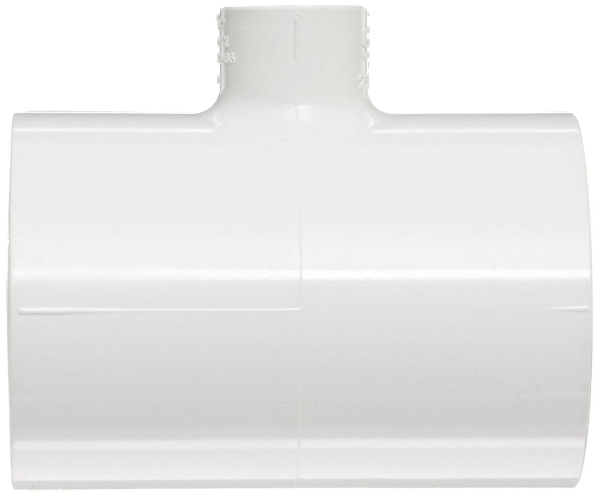 Tee Schedule 40 1-1//2 Socket x 1//2 NPT Female White Spears 402 Series PVC Pipe Fitting