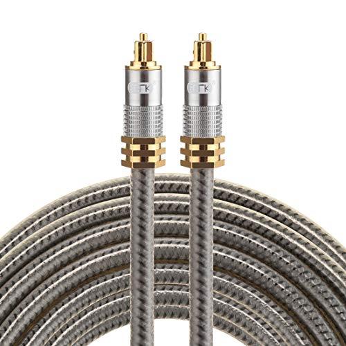 Sevenplusone licht en mooi, gemakkelijk mee te nemen. YL-A 5 m OD8,0 mm vergulde metalen kop Toslink-stekker op stekker, optische audiokabel, klein, gering gewicht en gemakkelijk te dragen.