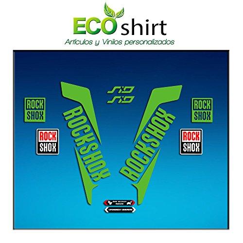 Ecoshirt 07-CRPD-LYD8 Pegatinas Horquilla Fork Rockshox SID 2016 Am41 Stickers Aufkleber Decals Adesivi Bike BTT MTB Cycle, Verde 26' y 27.5'