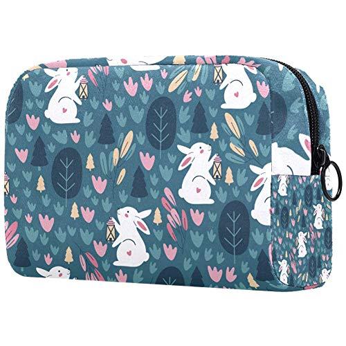 Bolsa de maquillaje personalizada para brochas de maquillaje, bolsas de aseo portátiles para mujeres, bolso cosmético, organizador de viaje, impresión infantil