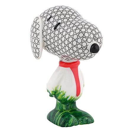 Department 56 Peanuts Snoopy Slam Dunk Dog Basketball Pattern Figurine 3 Inch