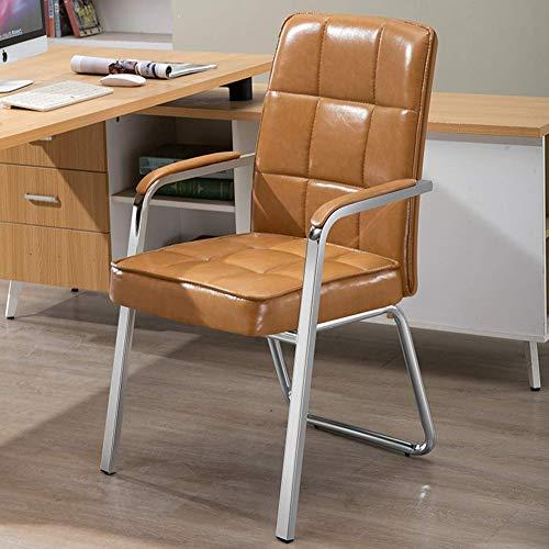 XiYou Silla Oficina de Tela sin Ruedas, Silla ergonómica para computadora con Soporte Lumbar, cojinete de Silla de Escritorio de 150 kg para Oficina en casa (PU)