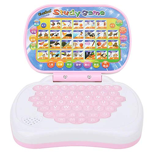 ViaGasaFamido Baby Electronic Toy, Kids Computer Machines Chinese and English bilingual Learning Toy Multi-functional Laptop Tablet Educational Toy for Toddler Kids Infants Boys Girls Birthday