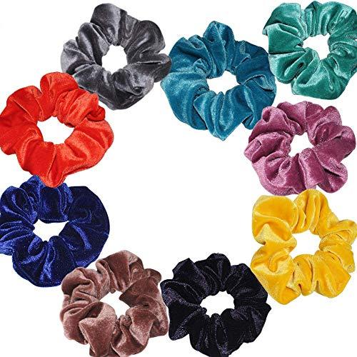 LANGING 9 Stks Haarlijn Accessoires Paardenstaart Haarbanden Elastiek Haarbanden Scrunchies Met Fluweel Mode Eenvoudige Hoge Elastische Doek