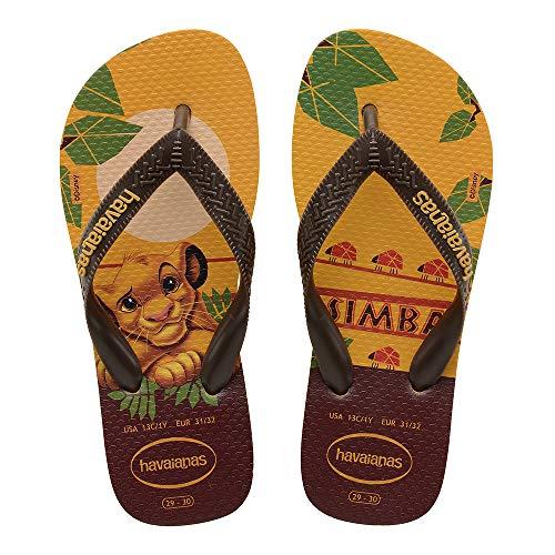 Chinelo Lion King, Havaianas, Adulto Unissex, Amarelo Banana, 41/42