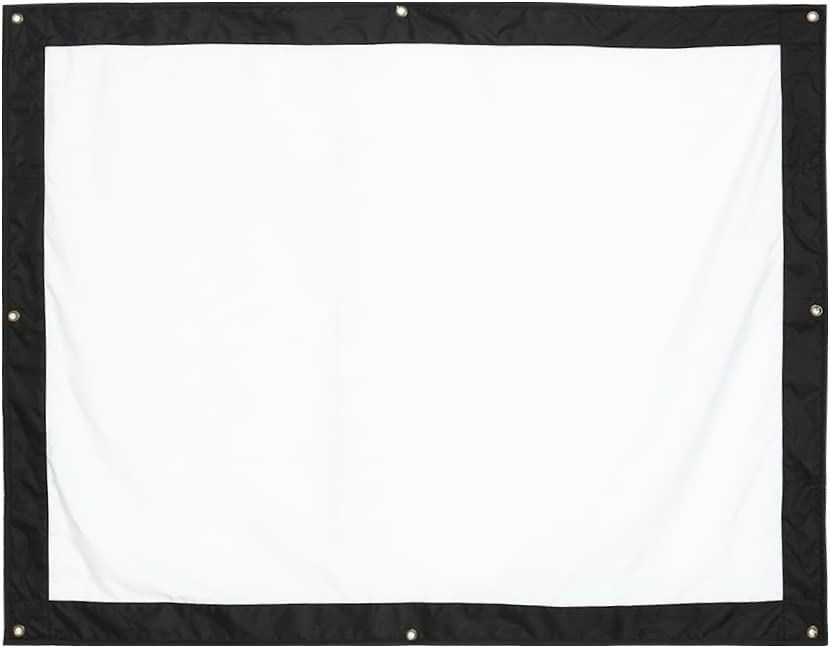 QiruIXinXi White Projection Screen with 4-Side Black Borders,Suitable for Both Indoor and Outdoor Needs,Five Size (60, 72, 100, 120, 150 Inch) Washable and Folding(60inch)