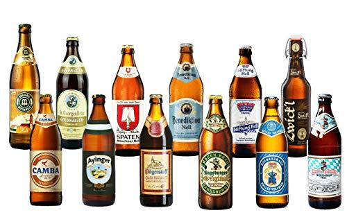 BIERPAKET 12 0,5L bayrische Biere Tegernseer Helles Märzer Kellerbier inkl. 0,96€ Pfand