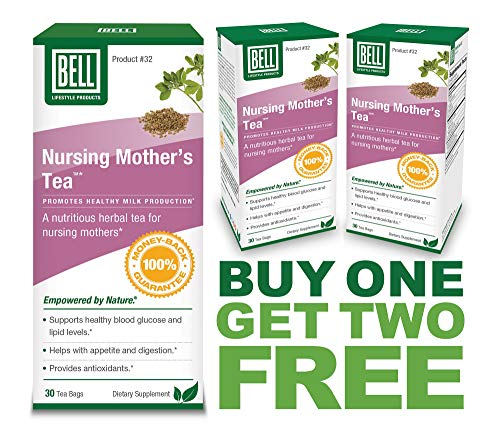 3 Pack Combo   Nursing Mother's Tea by Bell Lifestyle Products   Formulated to Help Support Healthy Lactation  Sold Directly by The Manufacturer