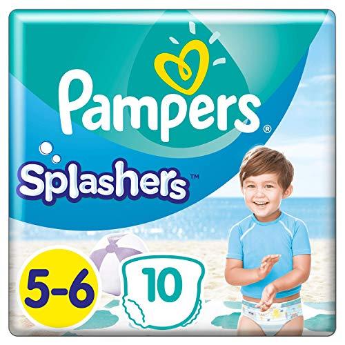 Pampers Couches-Culottes de Bain Jetables Splashers Taille 5-6 (14kg+) pour une Protection Optimale dans l'Eau, 10 couche