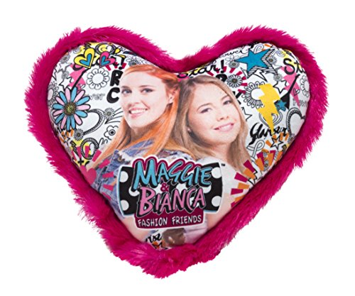 Joy Toy 66942 Figuras & Charactere Maggie & Bianca - Cojín con Forma de corazón (33 x 33 cm)