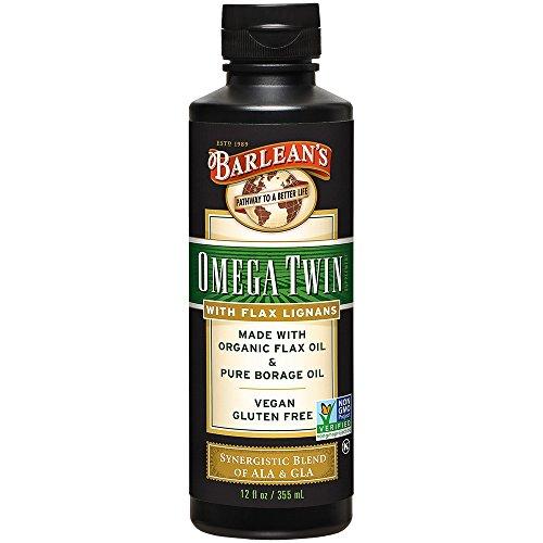 Barlean's Lignan Omega Twin Oil with 6,010mg ALA and 465mg GLA Omega Fatty...