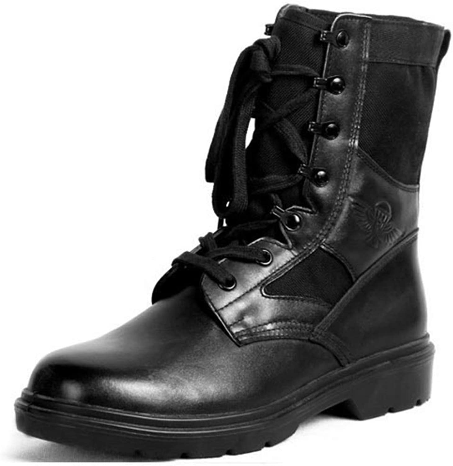 Mens Combat Army Boots High Top Special Forces Military Army Tactics Desert Outdoor Martin shoes Comfortable Breathable Leather Footwear