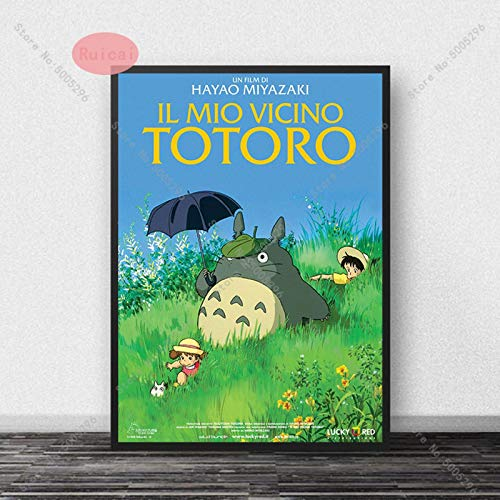 YF'PrintArt Impresiones En Lienzo Tonari No Totoro Carteles Lienzo Arte Papel Decoración De La Pared para El Hogar Bar Cafe Chico Habitación Pintura Cuadro En Lienzo Sin Marco 50X70Cm -A969