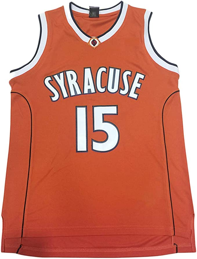 Amazon Com Men S Syracuse Collegiate Athletic 15 Retro Embroidered Basketball Jersey Clothing