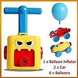 Fun Inertia Balloon Powered Car Toys Aerodynamics Inertial Power Kids Gifts, Hand Push Mini Plastic Air Power Balloon